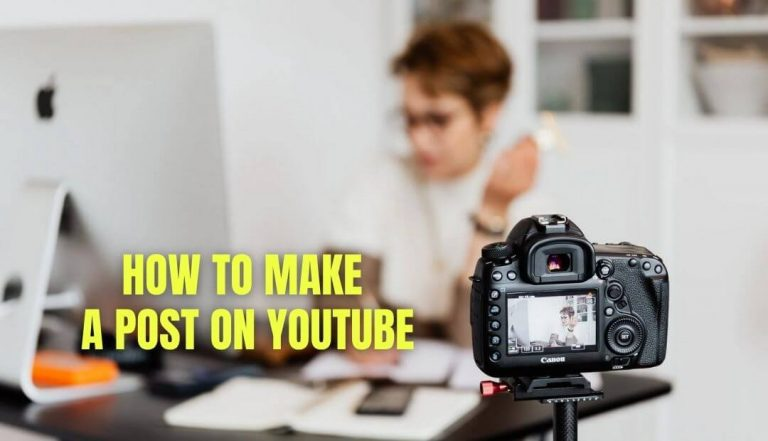 How to make a post on YouTube