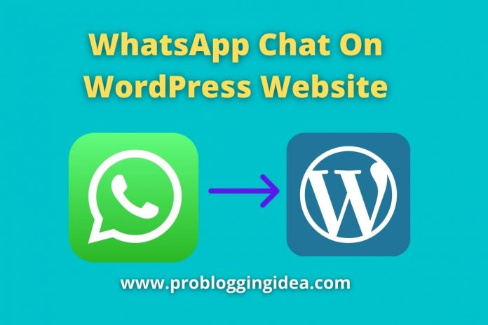 WhatsApp Chat On WordPress Website